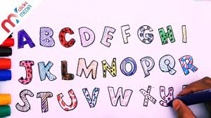 alphabet wall stickers in red white and blue how to draw and alphabet wall stickers in red white and blue how to draw and color alphabet color for kids