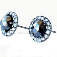 diamond stud earrings sale cut halo diamond stud earrings from gemone diamonds online