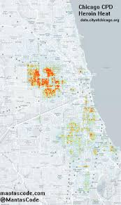 Map Chicago Chicago Heroin Map Opiates