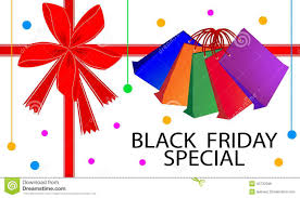 black friday graphics card black friday special card with shopping bags stock vector image