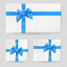gift box with ribbon gift box with blue ribbon and bow vector clipart image 7638
