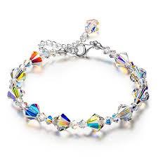 multi color swarovski crystal bracelet images Lady colour a little romance series adjustable crystal bracelet 7 jpg