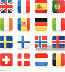 Europe Flags Europe Flags And Map Illustration Vector Art Getty Images