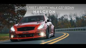 subaru liberty walk world u0027s first liberty walk g37 sedan halcyon 4k youtube