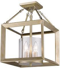 gold flush mount light golden lighting 2073 sf wg clr smyth modern white gold semi flush