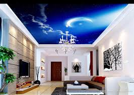 sky clouds moon wall murals for living room ceiling wallpaper
