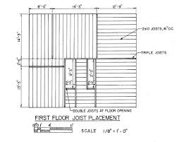 wood joist floor framing plan page title construction drawings