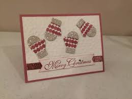 mitten punch stamp with sue v facebook christmas pinterest