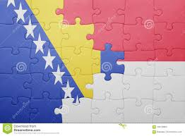 Flag Of Indonesia Image Puzzle With The National Flag Of Indonesia And Bosnia And