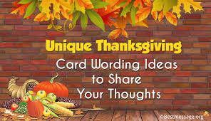 unique thanksgiving card wording ideas to your thoughts