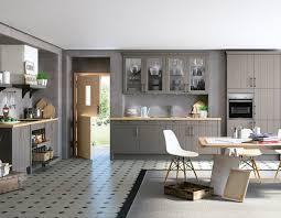 landhausküche grau global küche 55 210 landhausküche in lack grau und eicheoptik