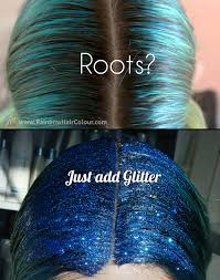 sparkly hair how to make your own hair glitter tutorial rainbow hair colour