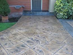 Backyard Stamped Concrete Patio Ideas Stamped Concrete To Look Like Wood Home Interior Design And