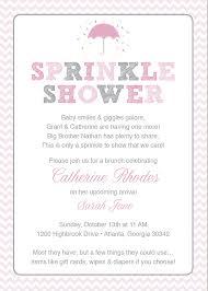 baby shower brunch invitation wording sprinkle baby shower invitations wording pink ba sprinkle shower