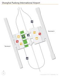 Atlanta International Airport Map by Pvg Airport Map Shanghai Pvg Airport Map China