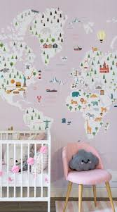 educational wallpapers the perfect ideas for your kid s bedroom graph paper pink map wall mural