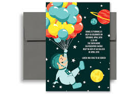 space museum party birthday invitation wording 5x7 in vertical