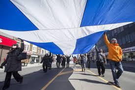 Greek Canadian Flag Greek Independence Day Parade Toronto Star