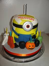 Halloween Bundt Cake Decorations by Halloween Minion Shape Fondant Cake Cakecentral Com