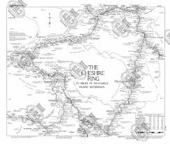 Cheshire England Map by Lockmaster No5 The Cheshire Ring