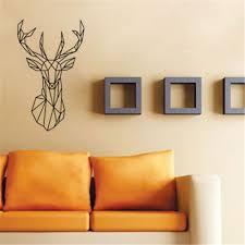 popular wall stickers geometric deer buy cheap xcm vinyl wall art geometry animal series decals new design geometric deer head sticker