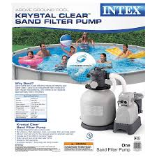 amazon com intex krystal clear sand filter pump for above ground