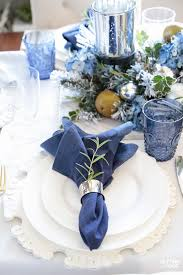 Fall Table Settings Fall Table Settings With A Blue And White Palette