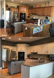 kitchen cabinets with grey walls kitchen makeover using ballet white by benjamin