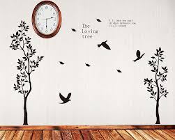 2 loving tree wall decal tree art stickers