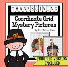 thanksgiving coordinate graphing mystery pictures 5th 9th tpt