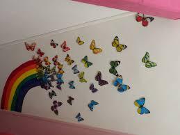 fresque murale chambre arc en ciel de papillons fresque murale fresque et murale