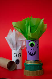 Halloween Paper Crafts by Halloween Crafts Candy Holders From Toilet Paper Tubes