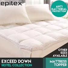qoo10 epitex exceed down mattress topper anti bacterial