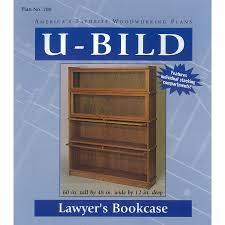 shop u bild lawyer u0027s bookcase woodworking plan at lowes com