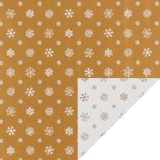 gold white snowflakes reversible wrapping paper the container