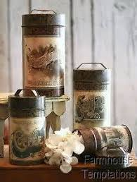 canisters kitchen decor new 3pc kitchen storage rooster canisters rustic vintage crackled