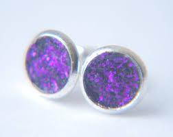 glitter stud earrings glitter studs etsy