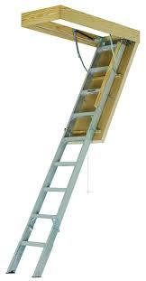 louisville aee2510 aluminum energy efficient attic ladder jpg