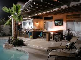Back Yard Design Ideas by Worthy Backyard Designs With Pool And Outdoor Kitchen H97 For Home