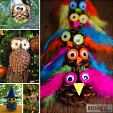 pine cone owl ornaments top pins owl ornament pine