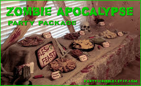 walking dead party supplies for program ideas apocalypse party package printable diy