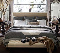 Pottery Barn Upholstered Bed Lorraine Tufted Leather Headboard Pottery Barn Home Bedroom