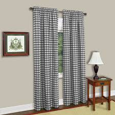 amazon com achim home furnishings buffalo check window curtain