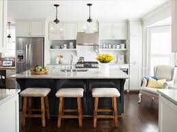 Modern Kitchen Islands With Seating by Kitchen Rectangular White Polished Wooden Kitchen Island With