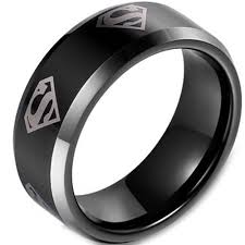 superman wedding band justtitanium coi titanium superman wedding band ring