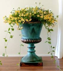 plants superb tall square plant pots tall urn planters and outdoor