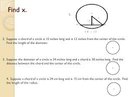 Segment Lengths In Circles Worksheet Answers Arcs Chords And Tangents G 11c 2 1 12 2 Ppt