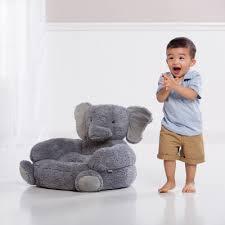 elephant children u0027s plush character chair trend lab