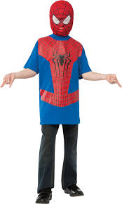 Boys Halloween T Shirts by Boys Spiderman The Amazing Spider Man T Shirt And Mask Costume