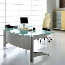 Modern Furniture White Rectangular Tanned Leather Executive Desk - Contemporary office furniture